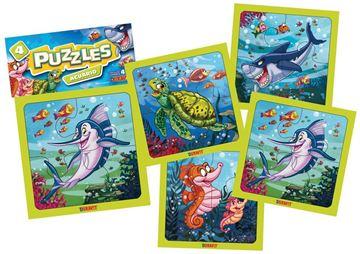 Imagen de 4 Puzzles 4 piezas - Acuario 2
