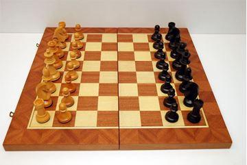 Imagen de Caja-tablero de ajedrez Nº 11 c/fichas N°11