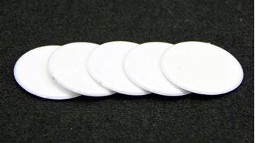 Imagen de Fichas redondas 35 mm x 100 Unidades BLANCO