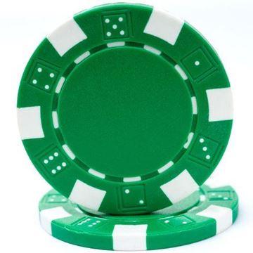 Imagen de Fichas De Poker 11.5 Grs. Sin Valor Verde