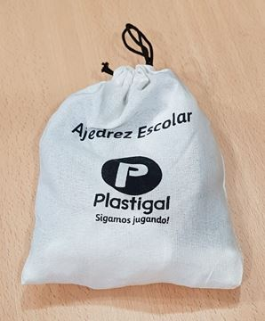 Imagen de AJEDREZ MACIZO IRROMPIBLE en bolsa de tela