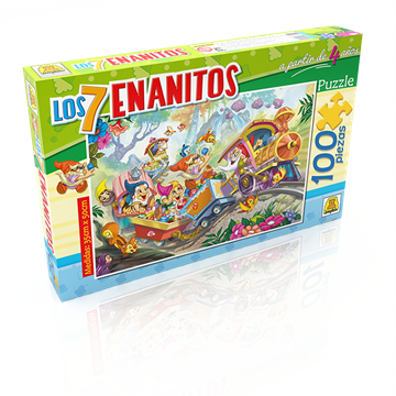 Imagen de Puzzle x 100 Piezas - Los 7 Enanitos