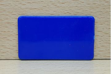 Imagen de Fichas rectangulares 35 x 60mm x 100 Unidades AZUL