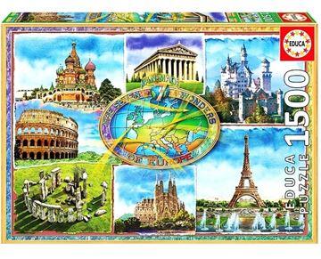 Imagen de Puzzle 1500 Piezas - Siete maravillas de Europa